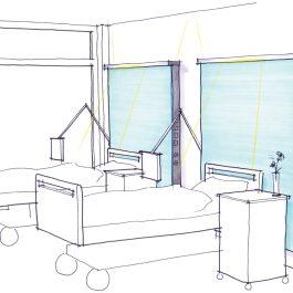 Schyns Q 100 Integrative Vertical Medical Furniture Supply Unit