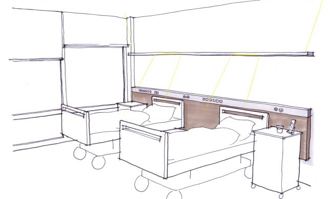 Schyns Q 100 Semi Integrative Medical Furniture Supply Unit