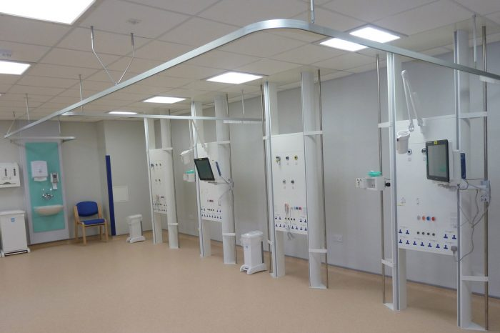 FS Medicol, Free Standing Medical Trunking from Cableflow